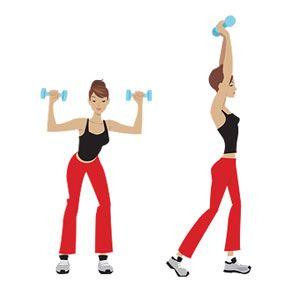 5- 2'şer kiloluk ağırlığınızı iki elinize alıp, vücudunuzu bacaklarınızdan hafifçe kırarak öne doğru eğilin. Bu şekilde ağırlıkları indirip kaldırın. Egzersizi 3 set halinde 10'ar defa yapmayı deneyin.